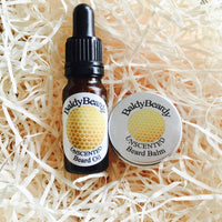 Unscented beard oil balm combination pack by BaldyBeardy with pipette lid