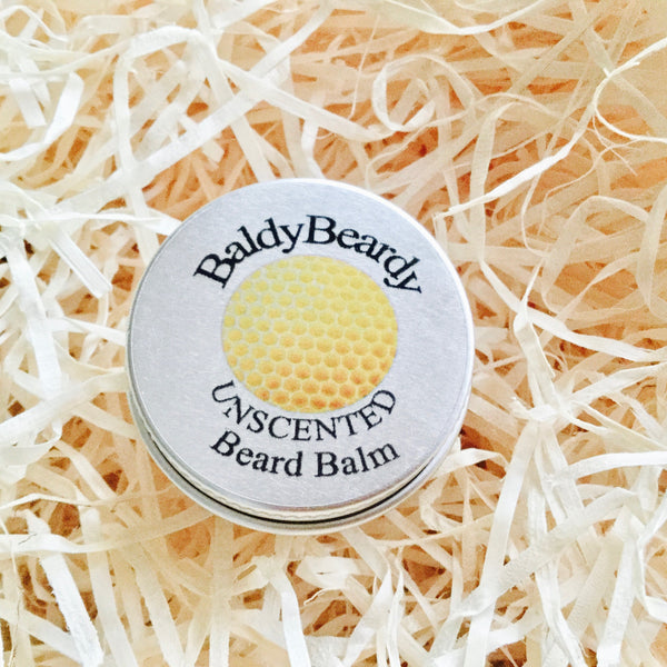 Unscented beard balm by BaldyBeardy