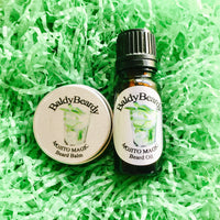 Mojito Magic beard oil and balm combination pack by BaldyBeardy