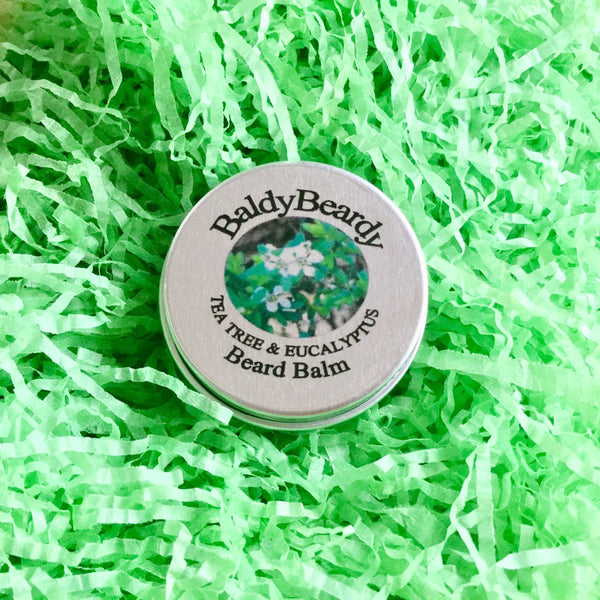 Tea Tree and Eucalyptus beard balm by BaldyBeardy