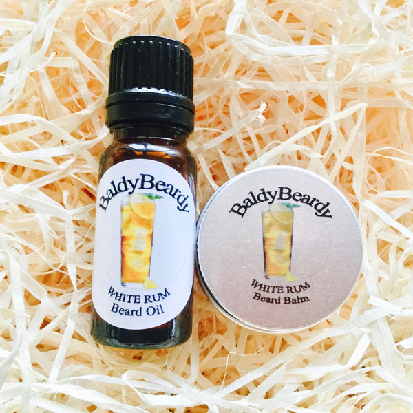White Rum beard oil and balm combination pack by BaldyBeardy