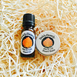 Birch Tar beard oil and balm combination pack by BaldyBeardy with dropper lid