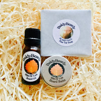 Pine and Birch Tar beard oil, balm and soap triple combination package by BaldyBeardy