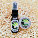 Wellbeing beard oil and balm combination pack by BaldyBeardy with atomiser spray lid
