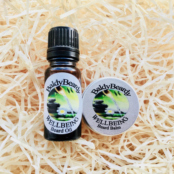 Wellbeing beard oil and balm combination pack by BaldyBeardy