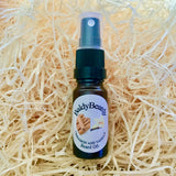 Cinnamon and Vanilla beard oil by BaldyBeardy with atomiser spray lid