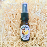 Cinnamon and Orange Delight beard oil by BaldyBeardy with atomiser spray lid