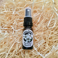Manuka beard oil by BaldyBeardy with atomiser spray lid
