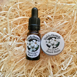 Manuka beard balm and oil combination pack by BaldyBeardy with pipette lid