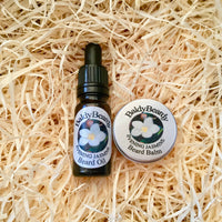 Evening Jasmine beard oil and balm combination pack by BaldyBeardy with pipette lid
