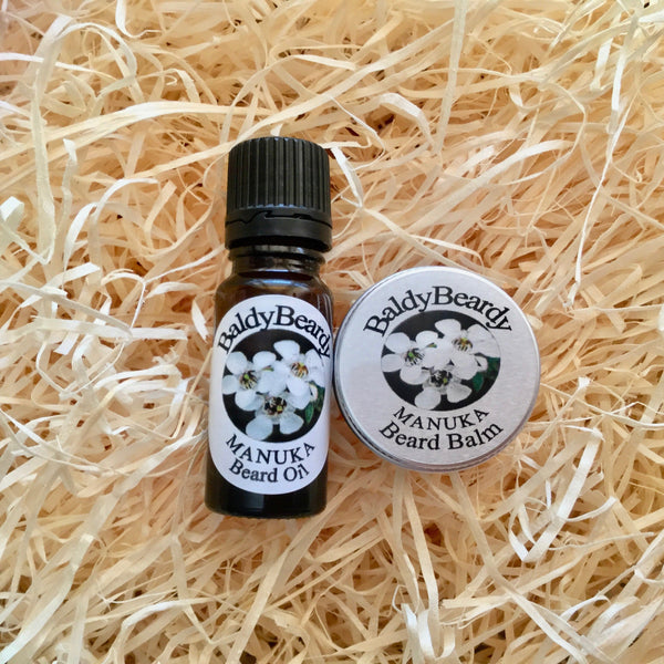 Manuka beard balm and oil combination pack by BaldyBeardy