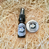 Evening Jasmine beard oil and balm combination pack by BaldyBeardy with atomiser lid