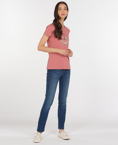 Barbour Bowland T-Shirt - Dusty Pink