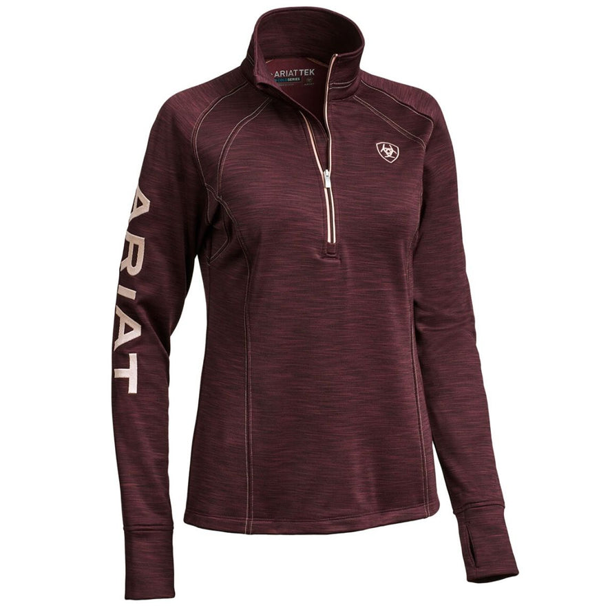 Ariat Tek Team 1/2 Zip Sweatshirt - Winetasting Heather