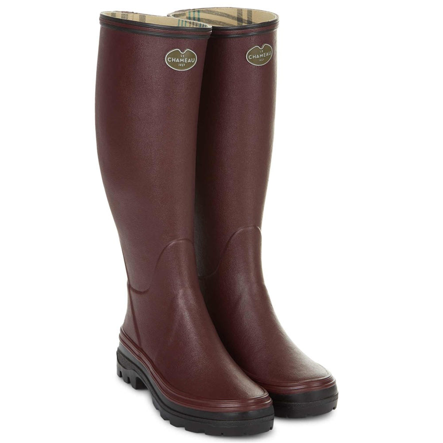Le Chameau Ladies Giverny Wellies - Cherry