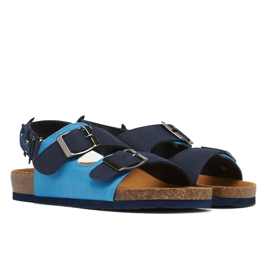 Joules Boys Luca Printed Sandal - French Navy