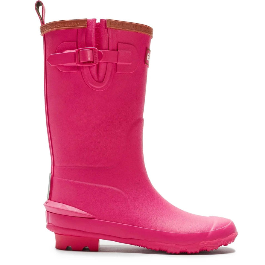 Barbour Girls Simonside Wellies - Berry Pink