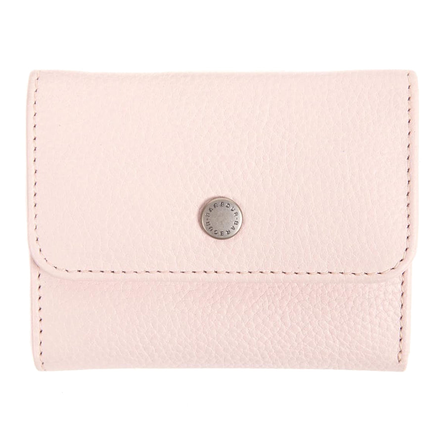 Barbour Leather Billfold Purse - Pink