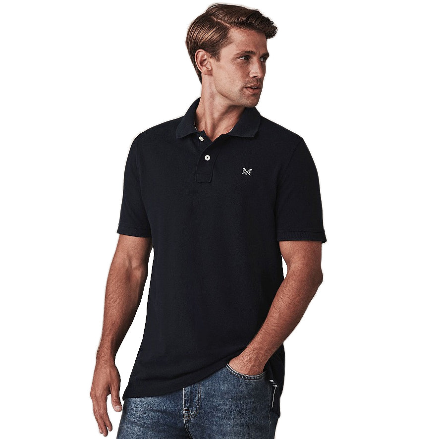 Crew Clothing Classic Pique Polo Shirt - Navy