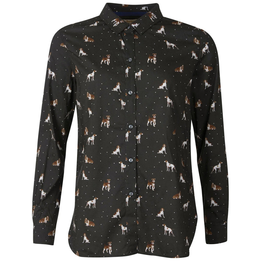 Barbour Ladies Safari Shirt - Country Dog Print