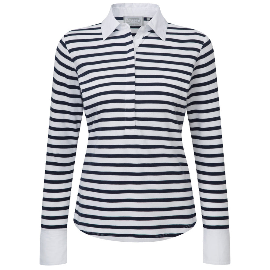 Schoffel Salcombe Shirt - Harbour Stripe Navy