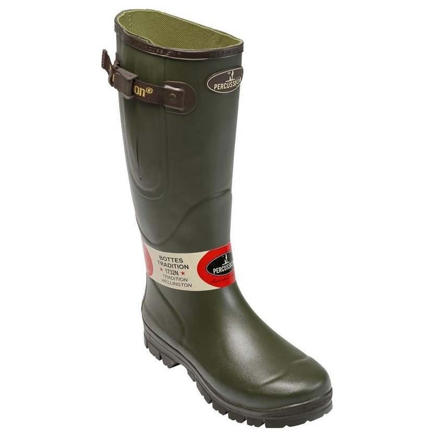 Percussion Tradition Jersey Wellington Boot - Khaki