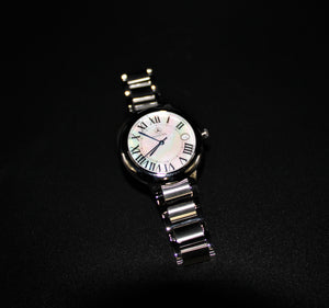 Ronda Swiss silver tone watch