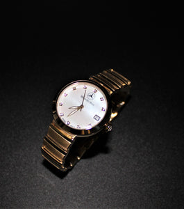 Ladies gold swiss movement watch