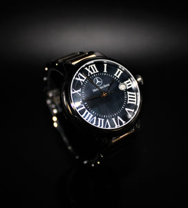 Ladies 2 tone black or white pearl dial watch