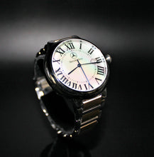 Load image into Gallery viewer, Ladies 2 tone black or white pearl dial watch