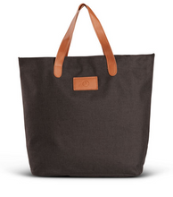 Load image into Gallery viewer, BLACK HEATHERED TOTE BAG