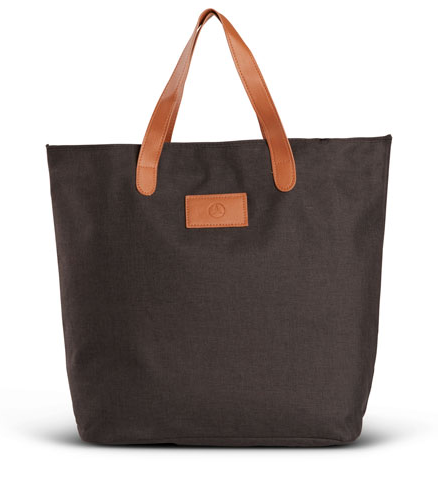 BLACK HEATHERED TOTE BAG