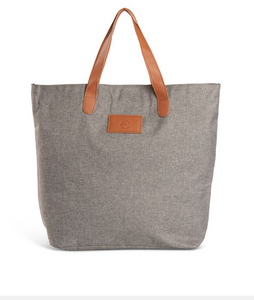 GREY HEATHERED TOTE BAG