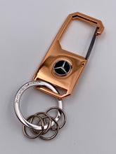 Load image into Gallery viewer, Mercedes-Benz Rose Gold Key Ring