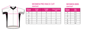 Ladies Cycling Pro Race Cut Bib