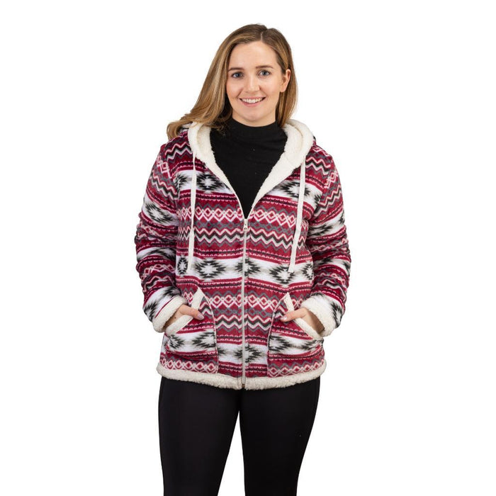 Women's Plush Aztec Sherpa Lined Jacket