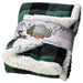 Plaid Plush Fleece Sherpa Baby Blanket