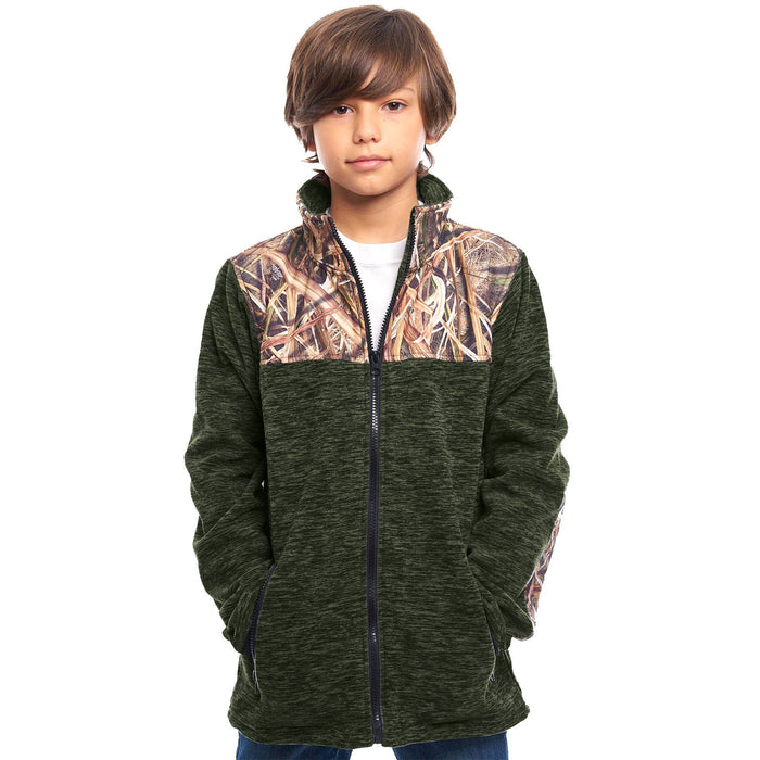 Kid's  Mossy Oak C-Max Jacket Shadow Grass Blades Camo