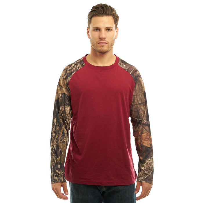 Men's Mossy Oak Cotton Long  Sleave T-Shirt Break-Up Country Camo