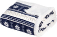 Nordic Plush Sherpa Fleece Blanket Throw