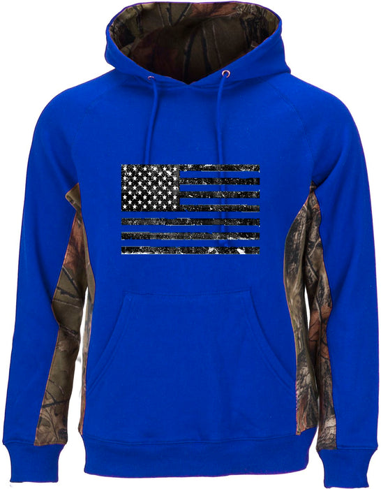 Mens Patriotic Cambrillo Cotton American Flag Hoodie