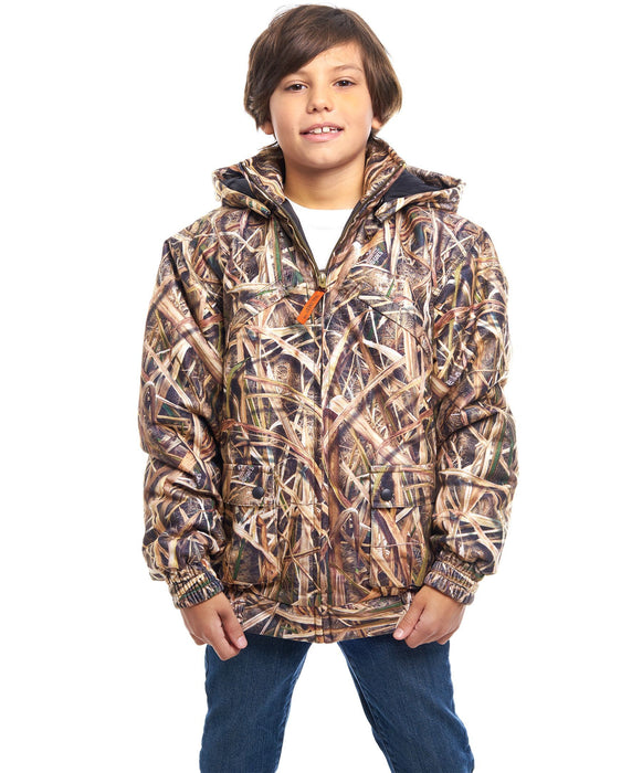 Kid's Mossy Oak Evolton Insulated Tanker Jacket Shadow Grass Blades