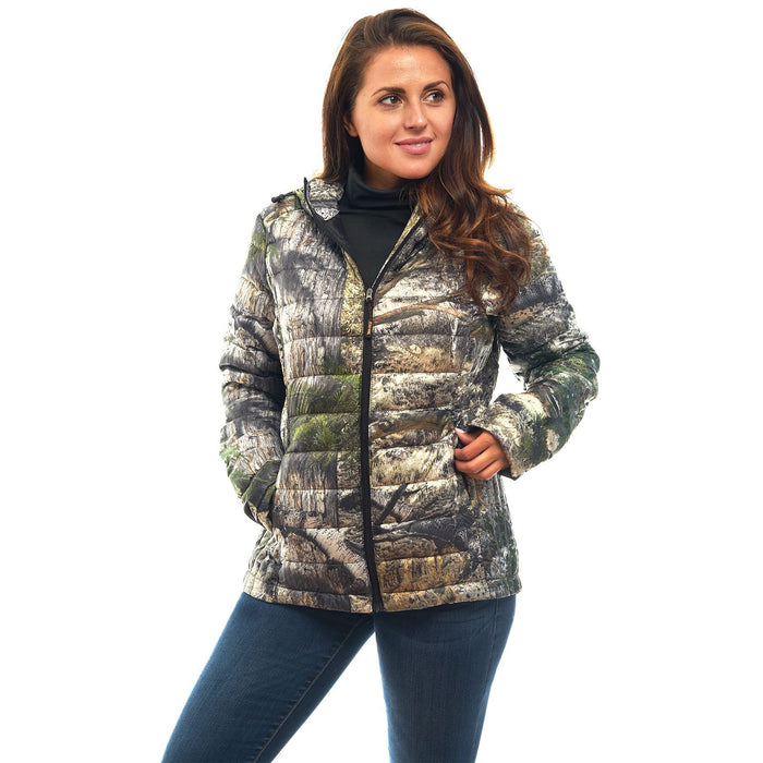 Women's Mossy Oak Down Puffer Jacket Mountaion Country Camo