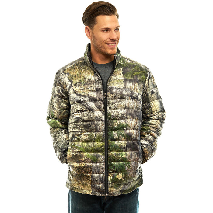 Men's Mossy Oak Down Puffer Jacket Mountaion Country Camo