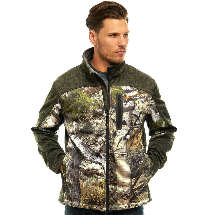 Men's Moss Oak Custom XRG Softshell Jacket Mountaion Country Camo