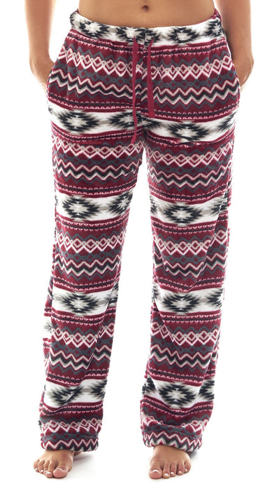 Women's Aztec Coral Fleece Lounge Pannts