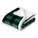 Plaid Plush Sherpa Fleece Blanket Throw
