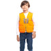 Kids Blaze Orange Deluxe Front Loader Vest