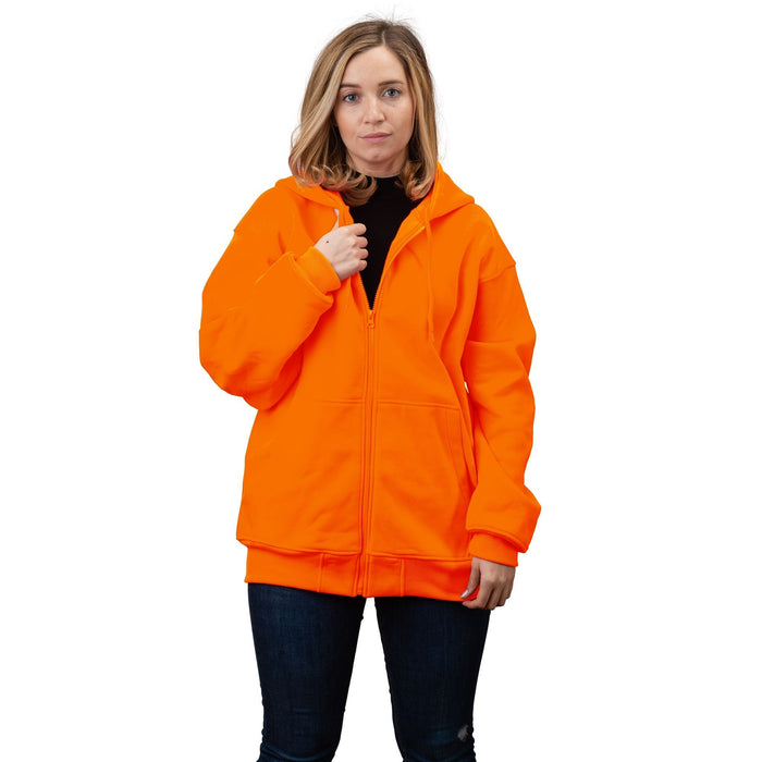 Women's Double Fleece Full Zip Blaze Hoodie