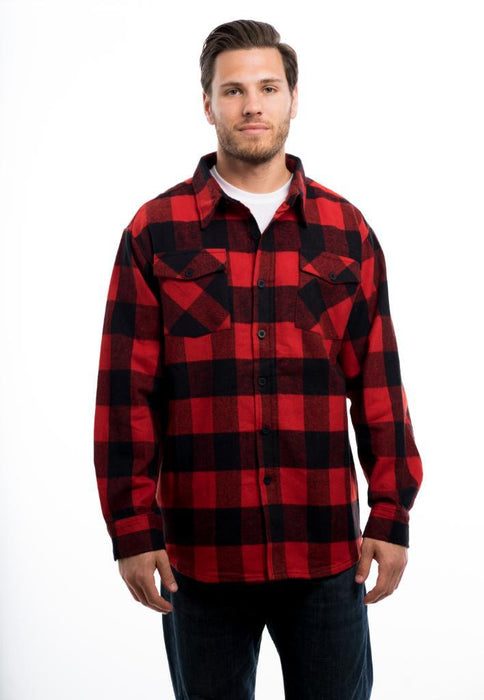 Men's Heavy Weight Brawny Flannel Plaid Shirt